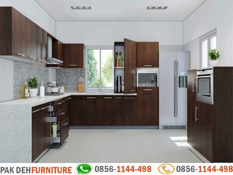 Bentuk L Kitchen Set Motif Kayu Jasa Pembuatan Kitchen Set Murah Jakarta Bogor Depok Tangerang Dan Bekasi