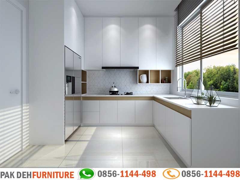 Bentuk L Kitchen Set Warna Putih Jasa Pembuatan Kitchen Set Murah Jakarta Bogor Depok Tangerang Dan Bekasi