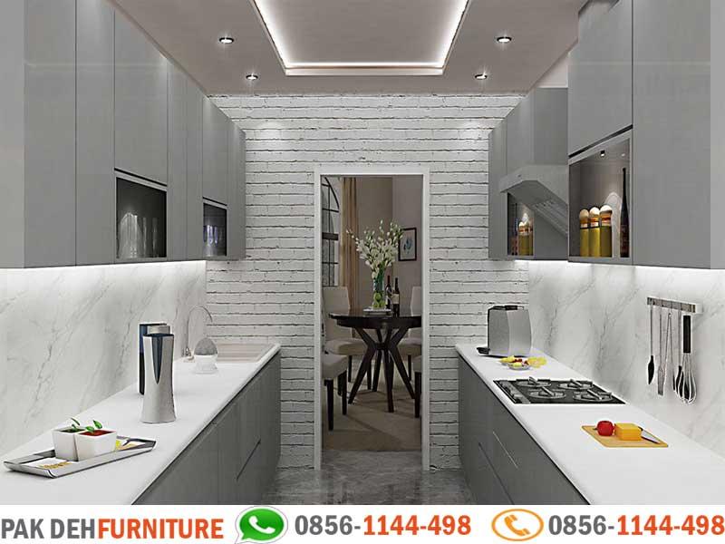 Parellel Kitchen Set Motif Abu Abu Jasa Pembuatan Kitchen Set Murah Jakarta Bogor Depok Tangerang Dan Bekasi