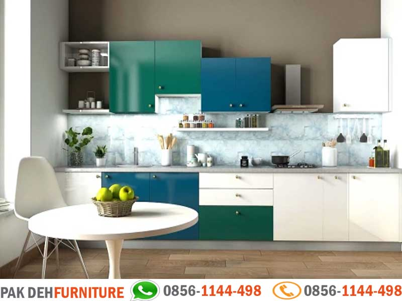 Straight Kitchen Set Kombinasi Warna Jasa Pembuatan Kitchen Set Murah Jakarta Bogor Depok Tangerang Dan Bekasi