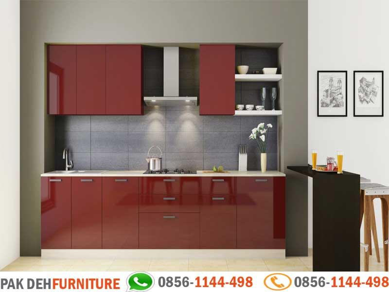 Straight Kitchen Set Merah Jasa Pembuatan Kitchen Set Murah Jakarta Bogor Depok Tangerang Dan Bekasi