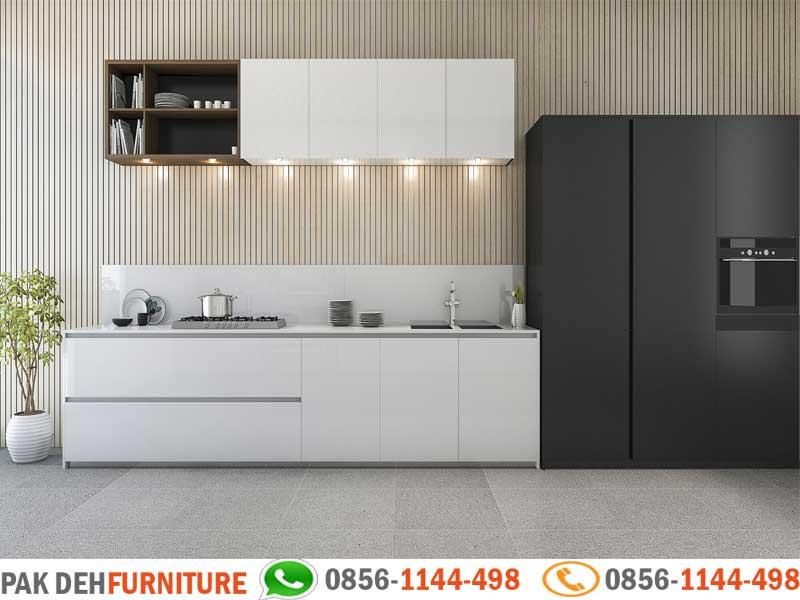 Straight Kitchen Set Putih Jasa Pembuatan Kitchen Set Murah Jakarta Bogor Depok Tangerang Dan Bekasi