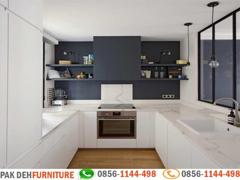 U Shaped Kitchen Set Motif Kecil Jasa Pembuatan Kitchen Set Murah Jakarta Bogor Depok Tangerang Dan Bekasi