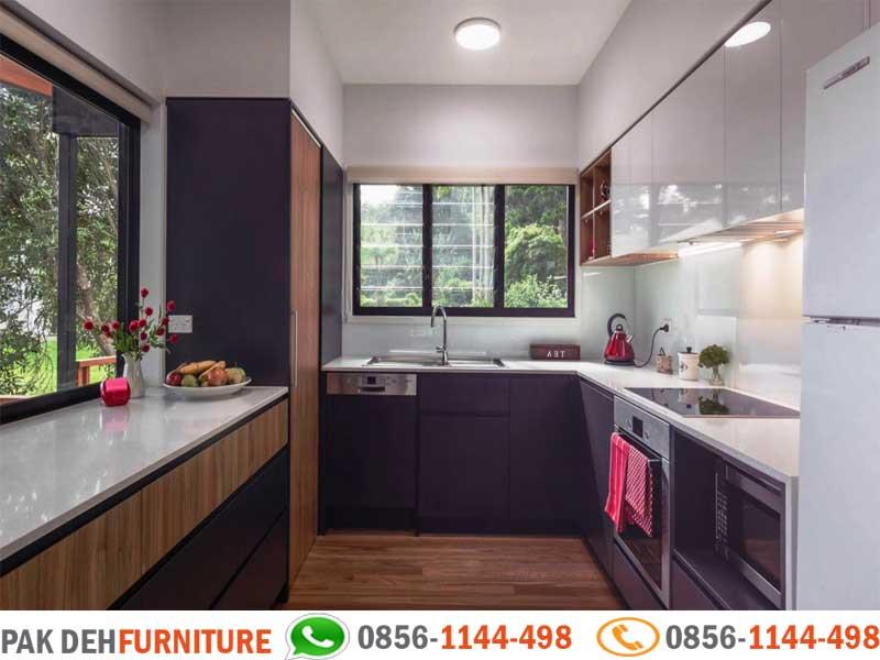 U Shaped Kitchen Set Motif Minimalis Jasa Pembuatan Kitchen Set Murah Jakarta Bogor Depok Tangerang Dan Bekasi
