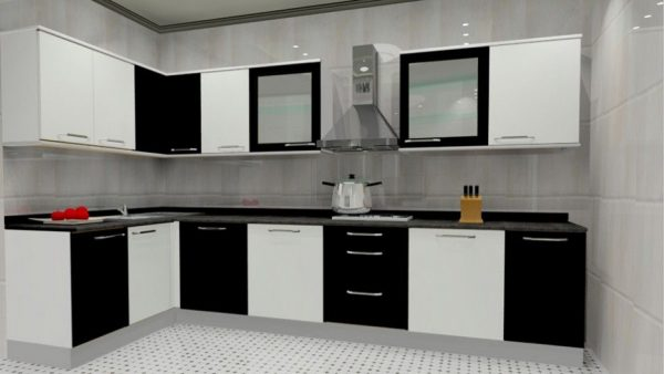 Desain Kitchen Set Aluminium Hitam Dan Putih