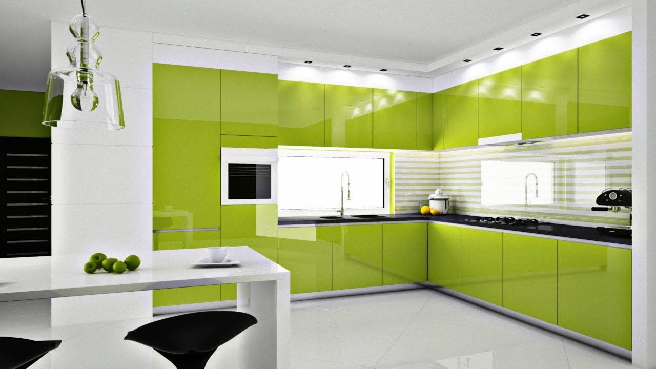 Foto Kitchen Set Warna Hijau