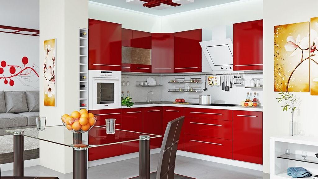 Gambar Kitchen Set Kecil Warna Merah