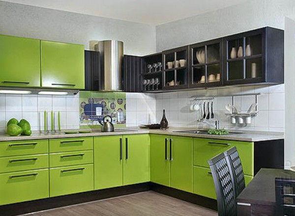 Gambar Kitchen Set Warna Hijau Dan Hitam