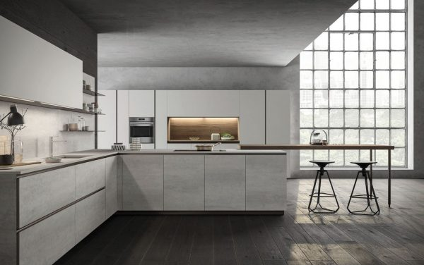 Model Kitchen Aluminium Contemporary Letter L