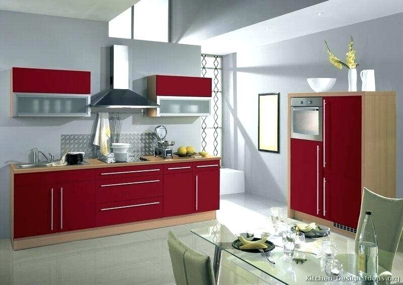 Model Kitchen Set Warna Merah