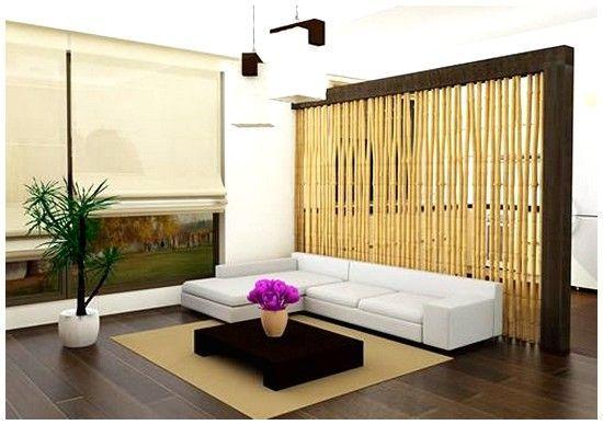 Partis dinding ruangan dari bambu