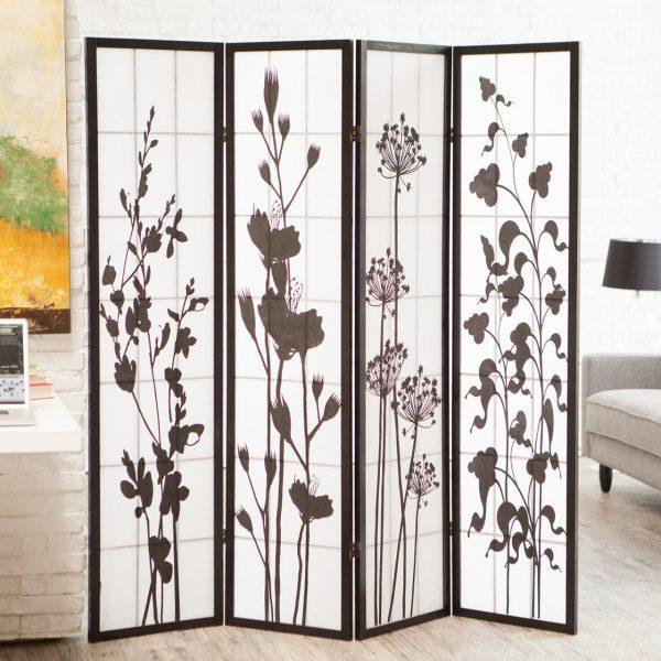 botanical partisi lipat motif bunga