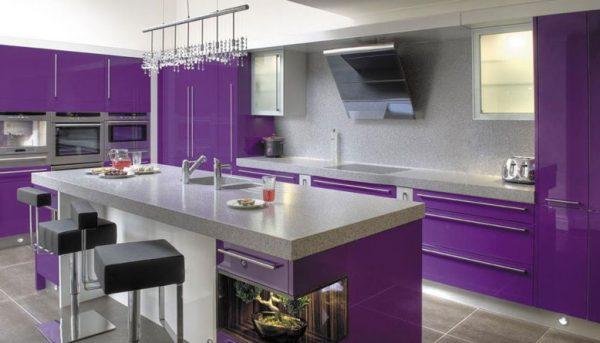 ideas kitchen aluminium warna ungu