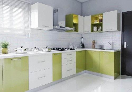 kitchen set aluminium Letter L
