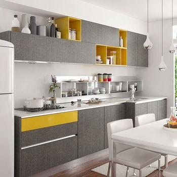 model kitchen set apartemen dari aluminium