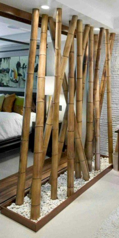 model partisi ruangan dari bambu