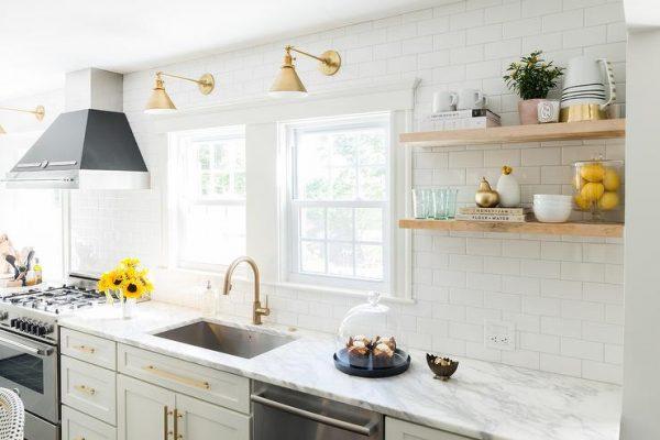 shelf floating kitchen set