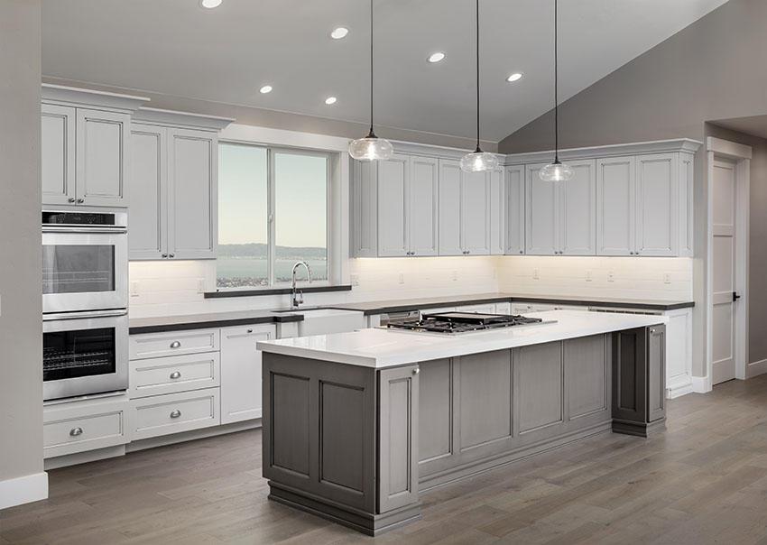 Desain Dapur Klasik L Shaped Ukuran 3x3