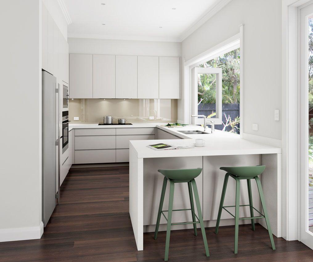 Desain Dapur Modern U Shaped Ukuran 3x3