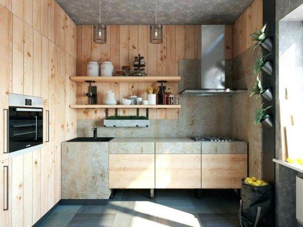 Desain Dapur Sederhana Dengan Kayu Palet Ukuran 3x3