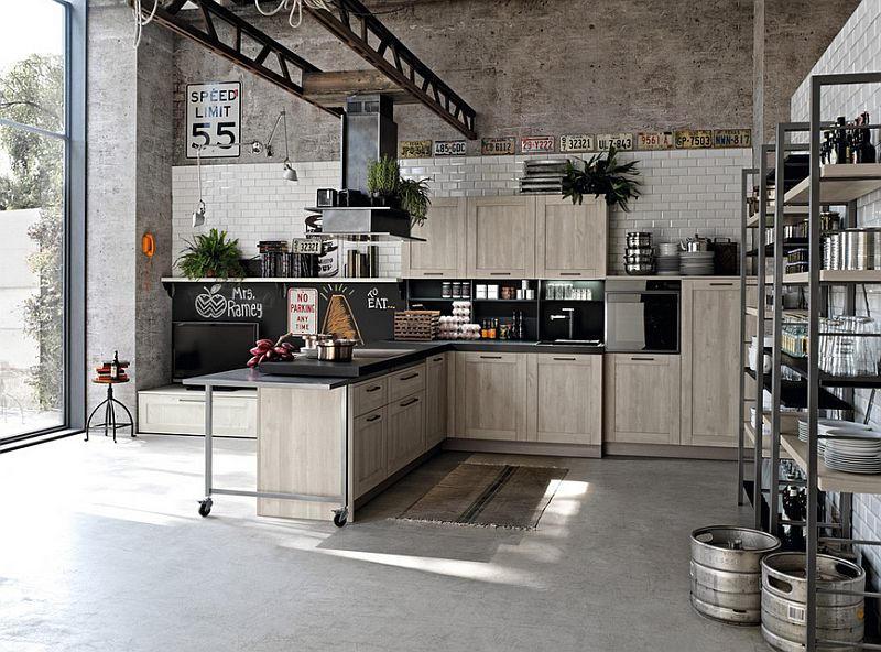 Gambar Dapur Modern Ukuran 3x3 Industrial Style