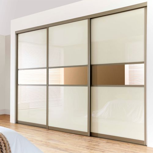 Model Wardrobe minimalis pintu Geser