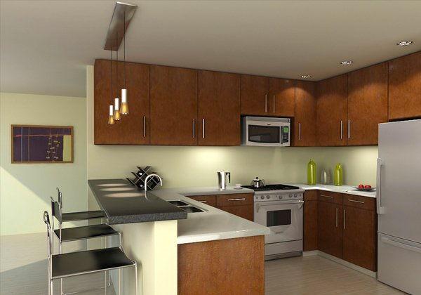 desain dapur minimalis dengan mini bar