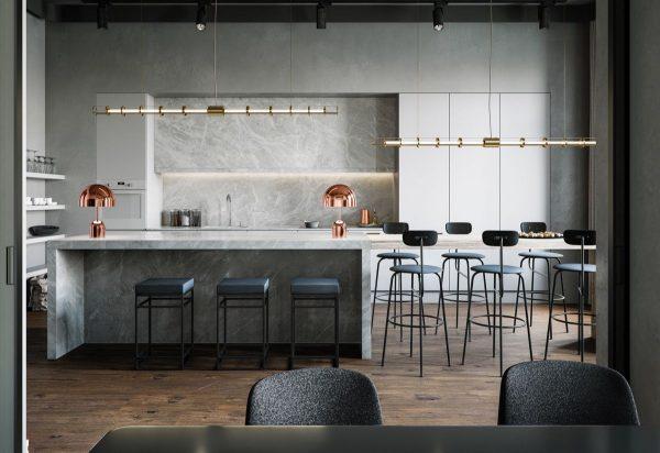 desain dapur minimalis tapi mewah