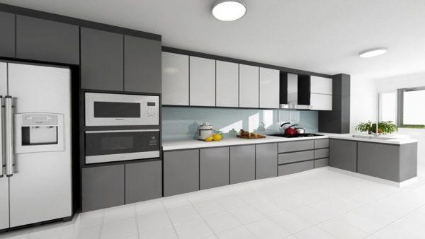 desain dapur modern terbuka