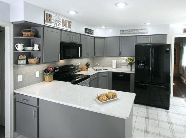 desain dapur modern untuk ruang kecil