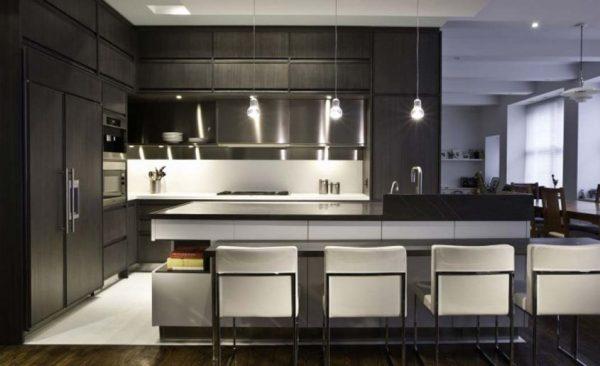 desain dapur modern warna hitam