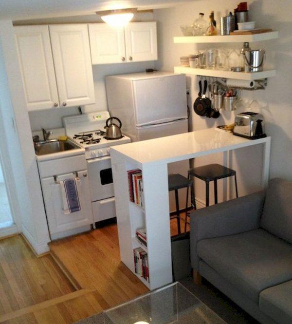 desain minimalis untuk dapur di apartemen
