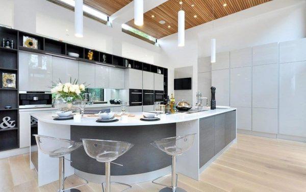 kitchen set mewah dengan hpl