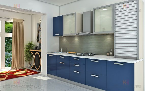 model dapur straight warna biru ukuran 3x3