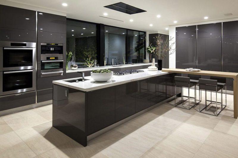 modern kitchen set finising hpl